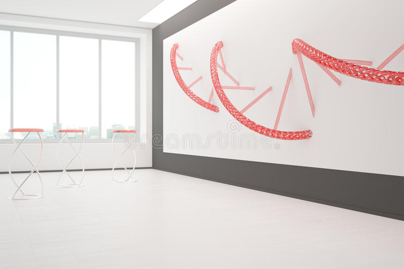 Interior with DNA sketch stock illustration Illustration of life