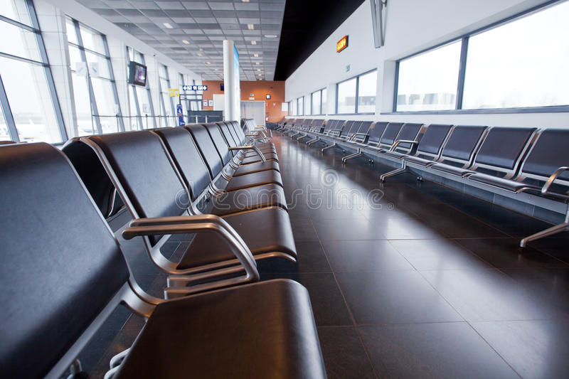 Interior do aeroporto imagens de stock royalty free