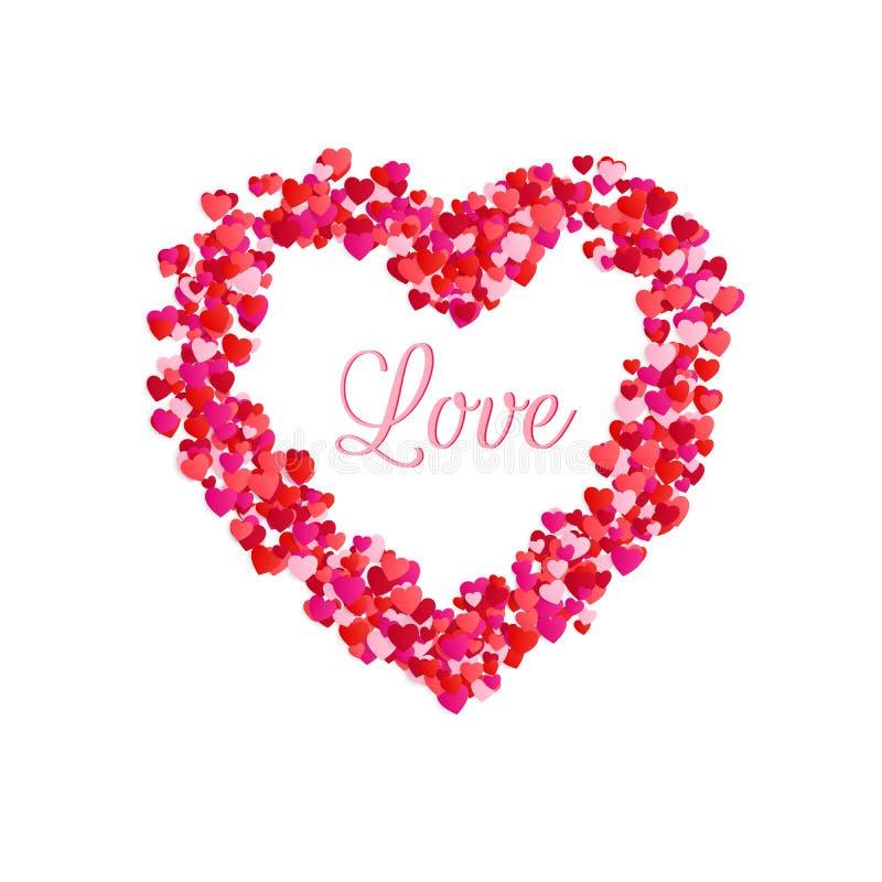 Interior do amor do quadro do coração Elemento romântico da decoração para o dia do dia ou de Valentim de mães ou o dia das mulhe ilustração do vetor