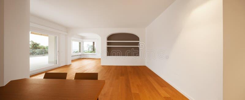 Interior do apartamento moderno, sala de jantar imagem de stock