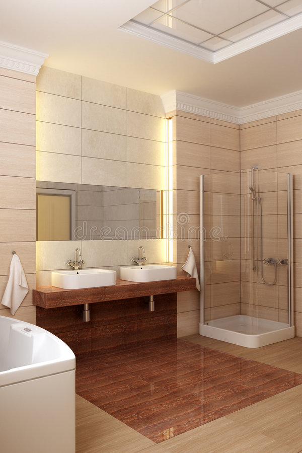 Interior do banheiro ilustração stock