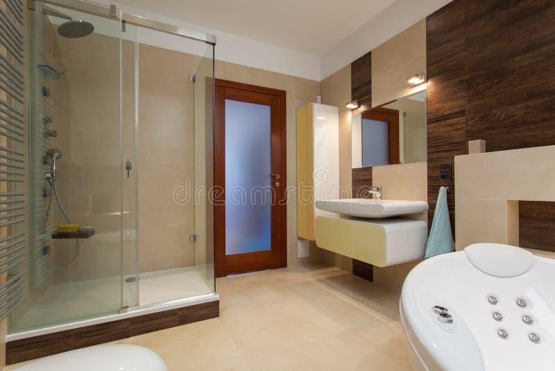 Interior do banheiro moderno fotografia de stock royalty free
