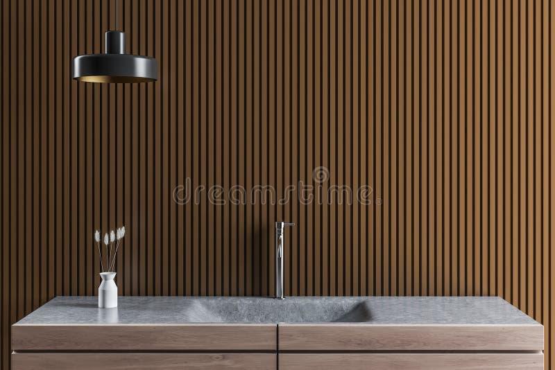 Interior do banheiro do projeto moderno Fim acima ilustração stock
