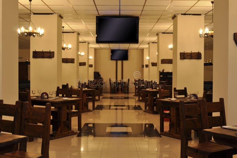 Interior do café de Sportclub fotografia de stock royalty free
