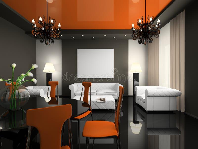 Interior do café moderno ilustração stock