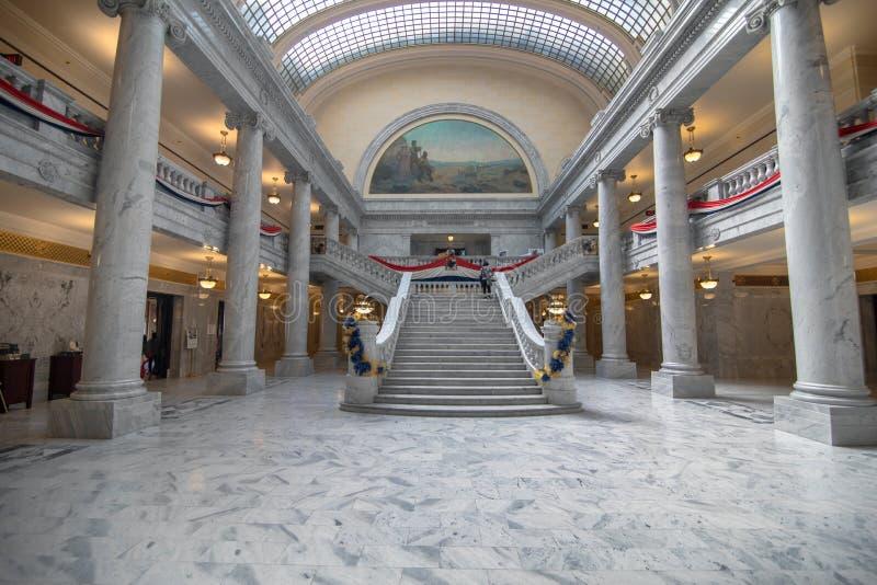 Interior do Capitólio do estado de Utá, Salt Lake City imagens de stock royalty free