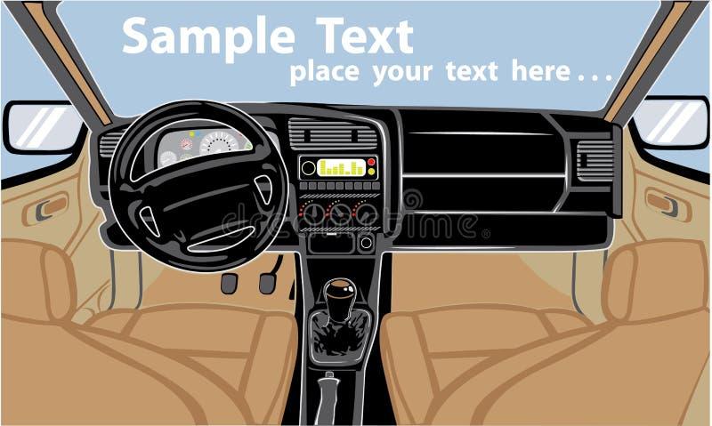 Interior do carro ilustração royalty free