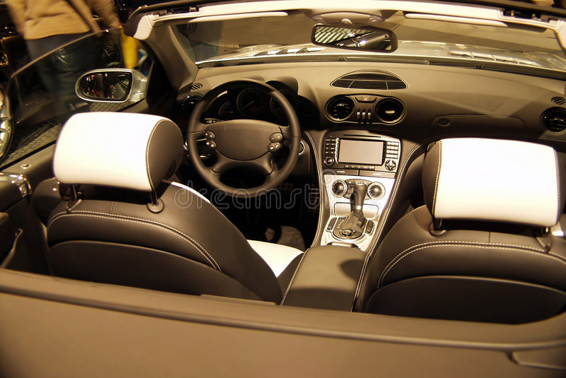 Interior do carro fotografia de stock royalty free