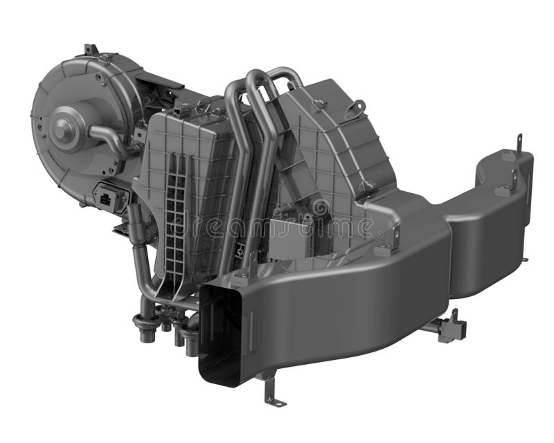 Interior do carro do calefator ilustração stock