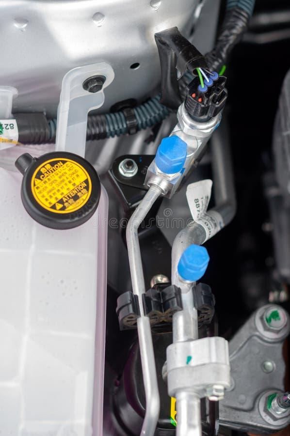 Download Interior Do Carro Com Tubulações Do Stell Imagem de Stock - Imagem de circunstância, fundo: 26514019