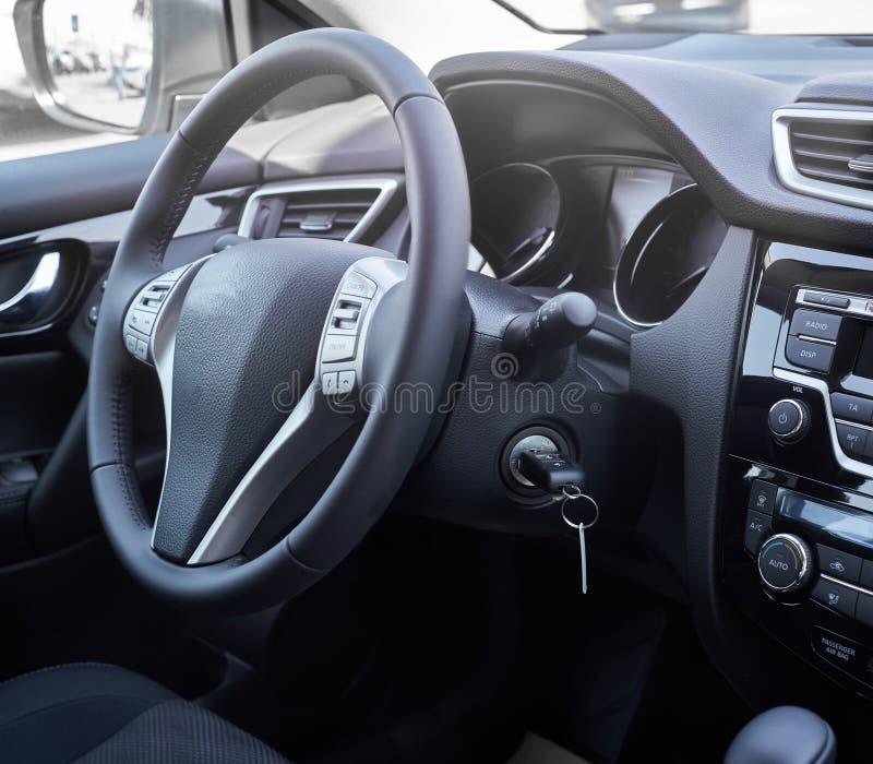 Interior do carro dashboard imagens de stock