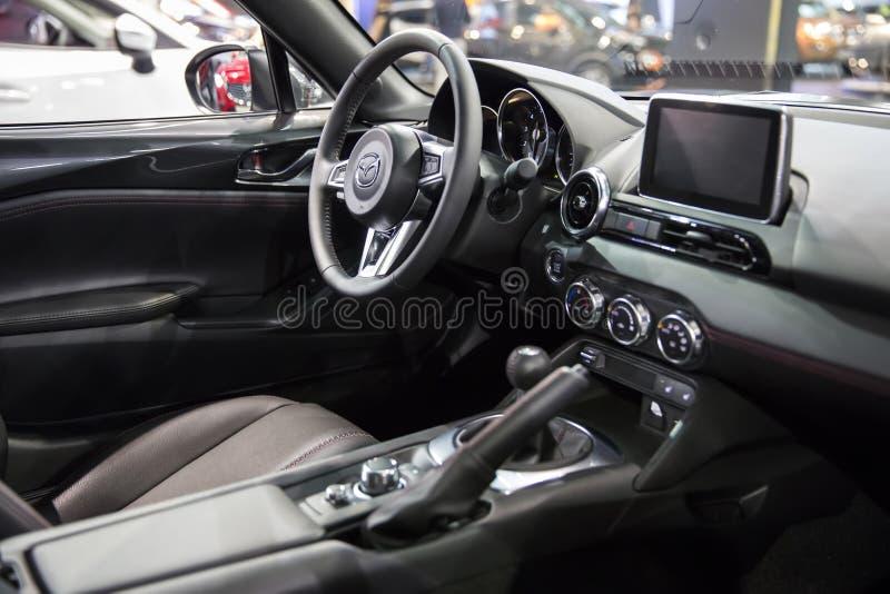Interior do carro de Mazda fotografia de stock royalty free