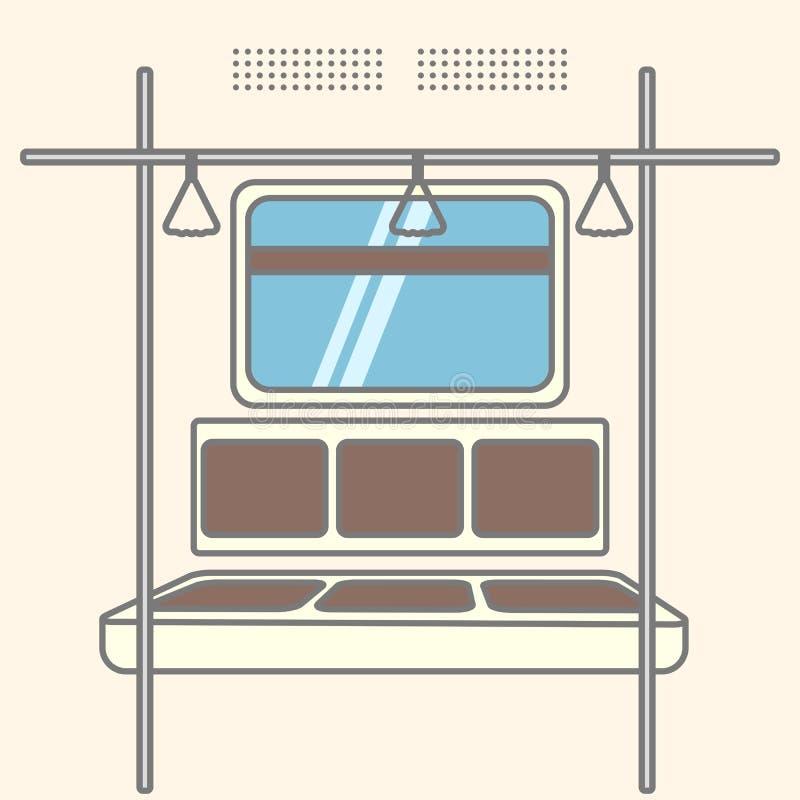 Interior do carro de metro ilustração stock