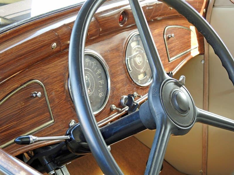 Interior do carro do vintage de Reo imagem de stock royalty free
