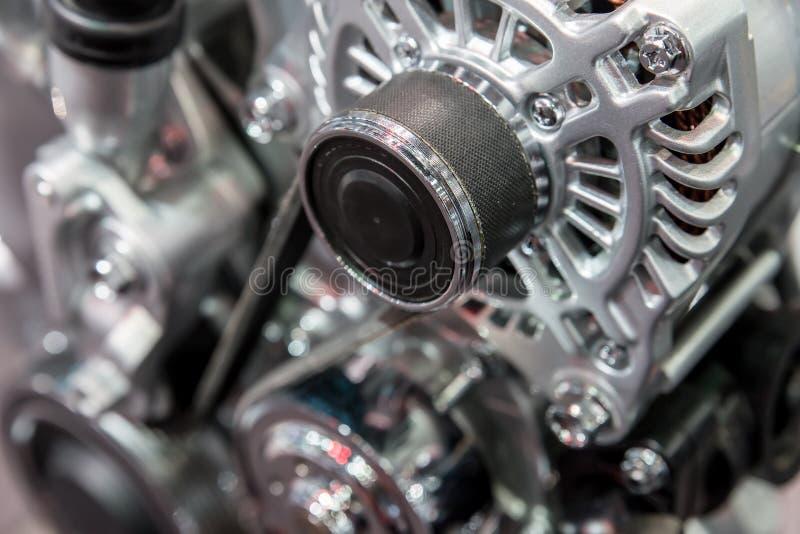 Interior do carro: Peça do motor de automóveis moderno imagens de stock royalty free