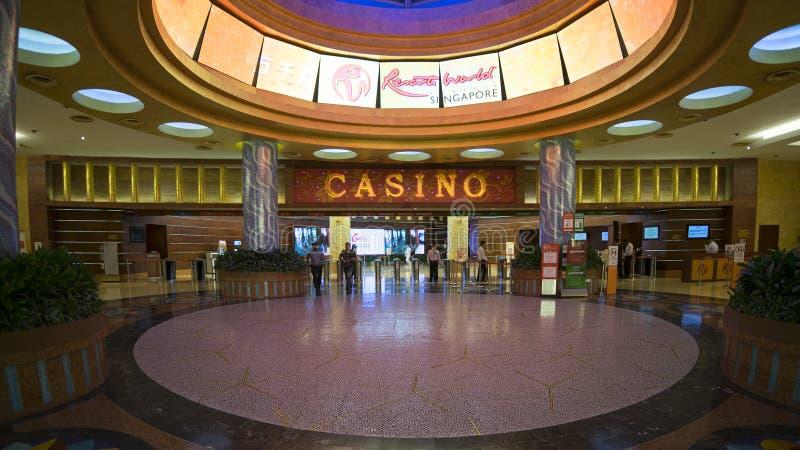 Interior do casino no mundo Sentosa dos recursos imagens de stock
