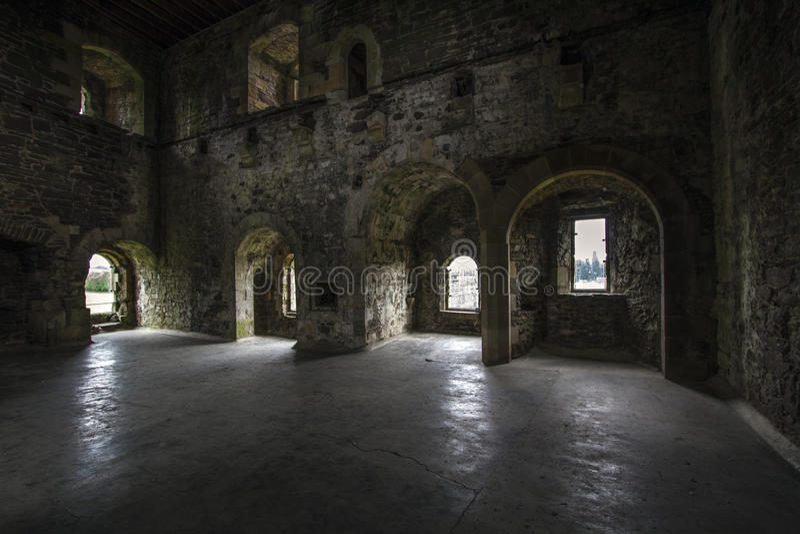Interior do castelo fotos de stock