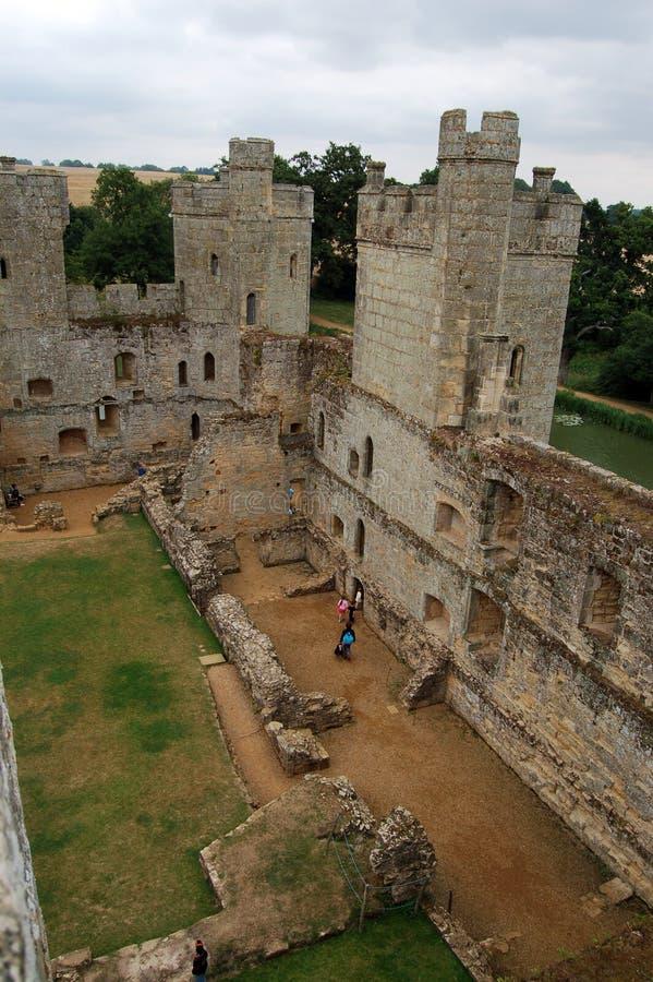 Interior do castelo de Bodiam. fotografia de stock royalty free
