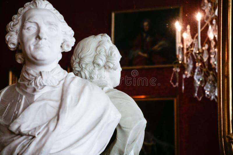 Interior do castelo Castelo de Chambord em França fotos de stock