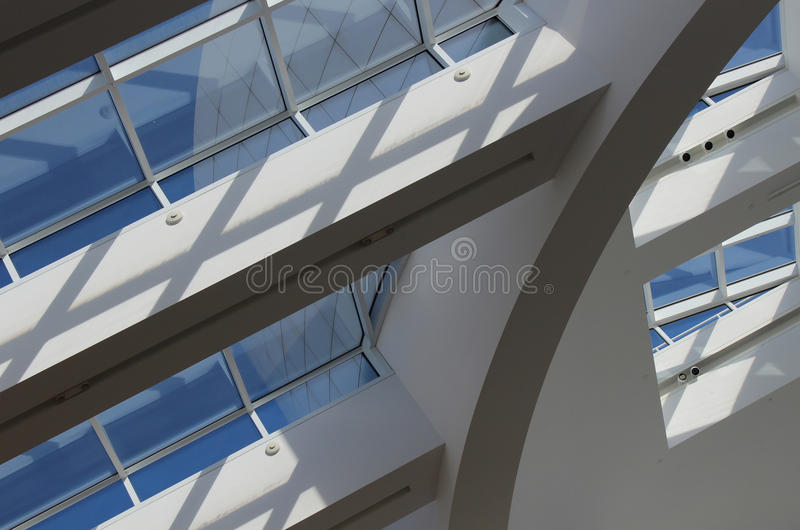 Interior do centro de Getty - Los Angeles imagens de stock royalty free