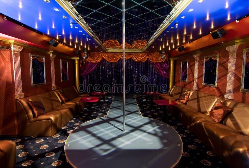 Interior do clube de noite foto de stock royalty free