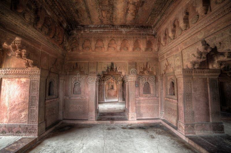 Interior do complexo de Fatehpur Sikri imagem de stock royalty free