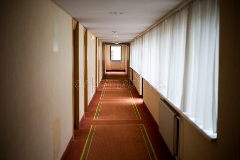 Interior do corredor do hotel fotos de stock
