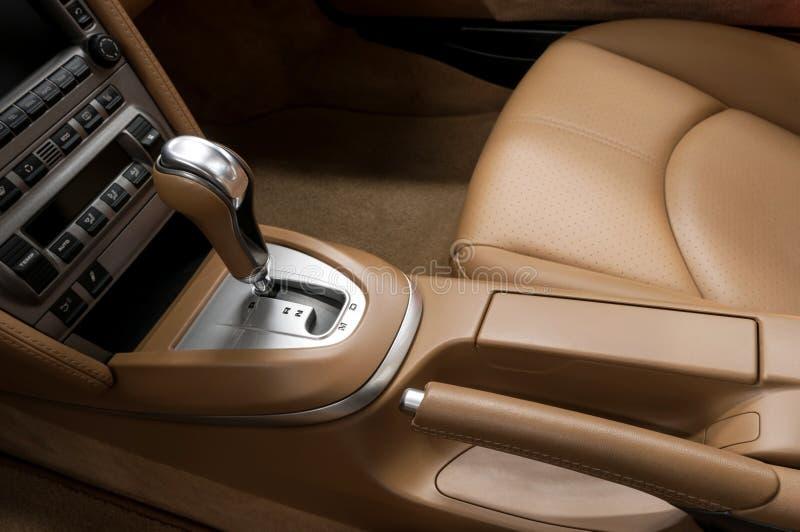 Interior do detalhe do automóvel moderno fotos de stock