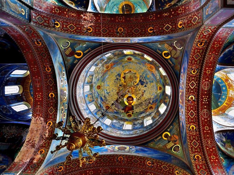Interior do detalhe ortodoxo do monastério fotografia de stock royalty free