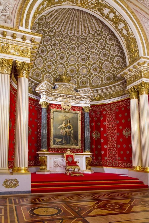Interior do eremitério do estado, de um museu de arte e da cultura em St Petersburg, Rússia imagem de stock royalty free