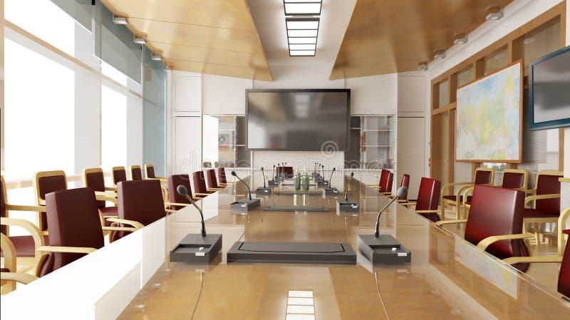 Interior do escritório ilustração royalty free