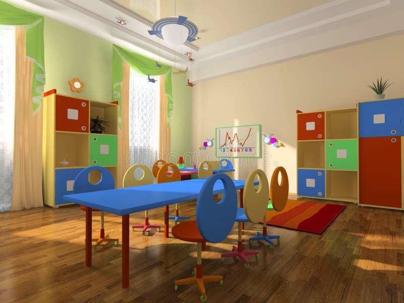 Interior do escritório do bebê ilustração do vetor