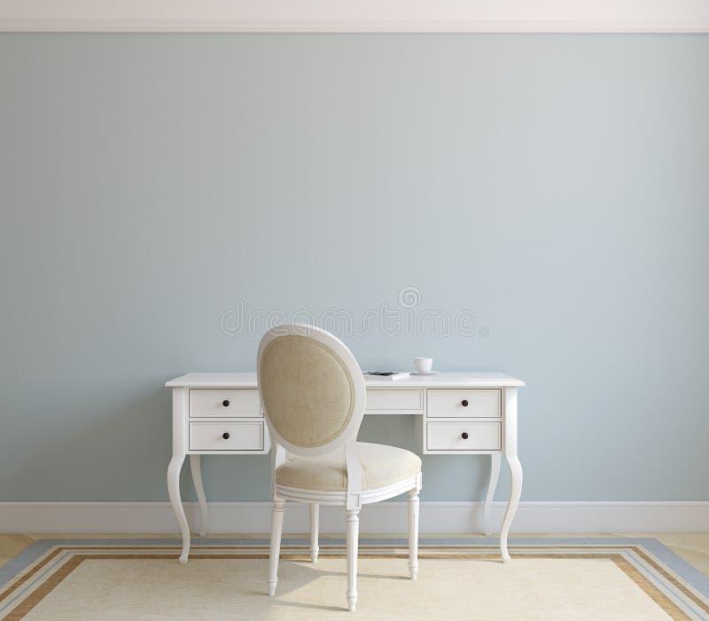 Interior do escritório domiciliário. ilustração royalty free