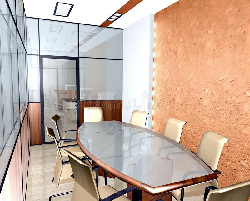Interior do escritório moderno imagem de stock royalty free