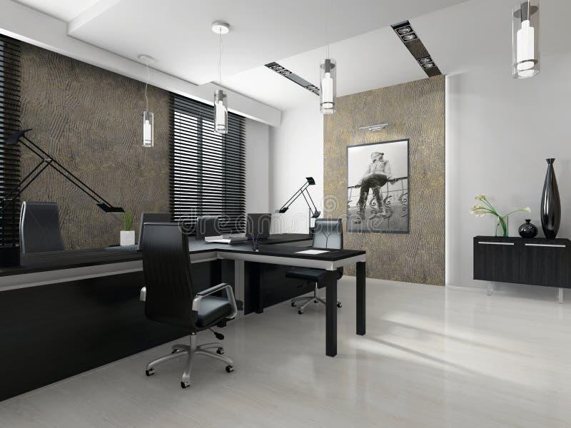 Interior do escritório moderno ilustração do vetor