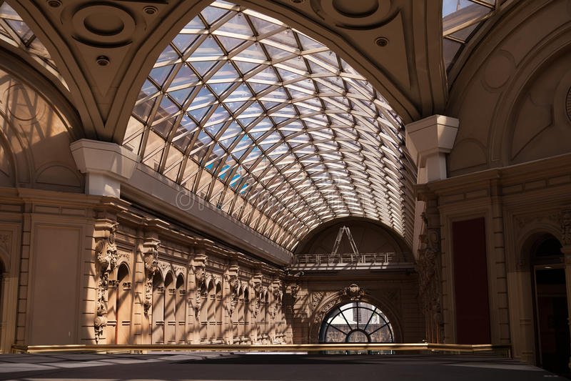 Interior do Galerias Pacifico, Buenos Aires, Argentina fotografia de stock royalty free