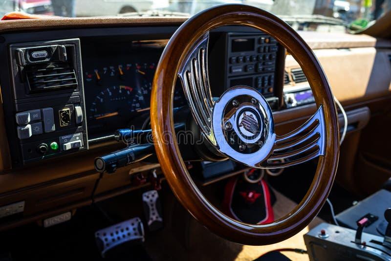 Interior do lado sem redução Silverado da etapa de Chevrolet C1500 do camionete, 1991 fotos de stock