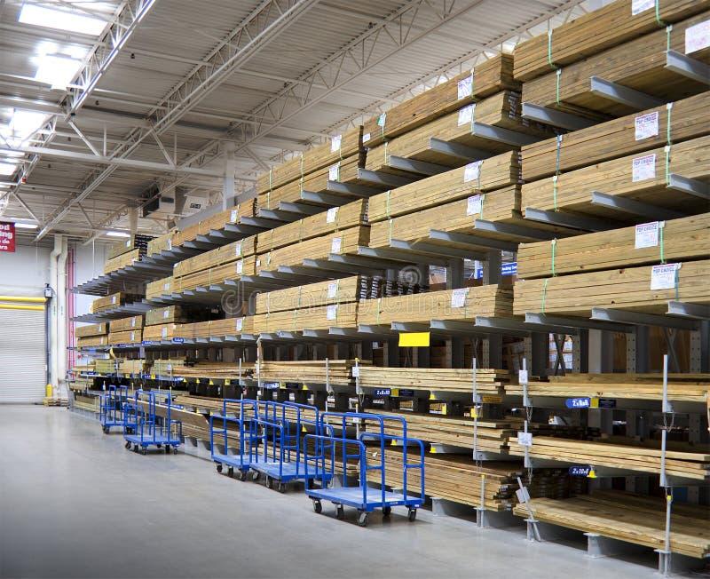 Interior do Lumberyard fotografia de stock