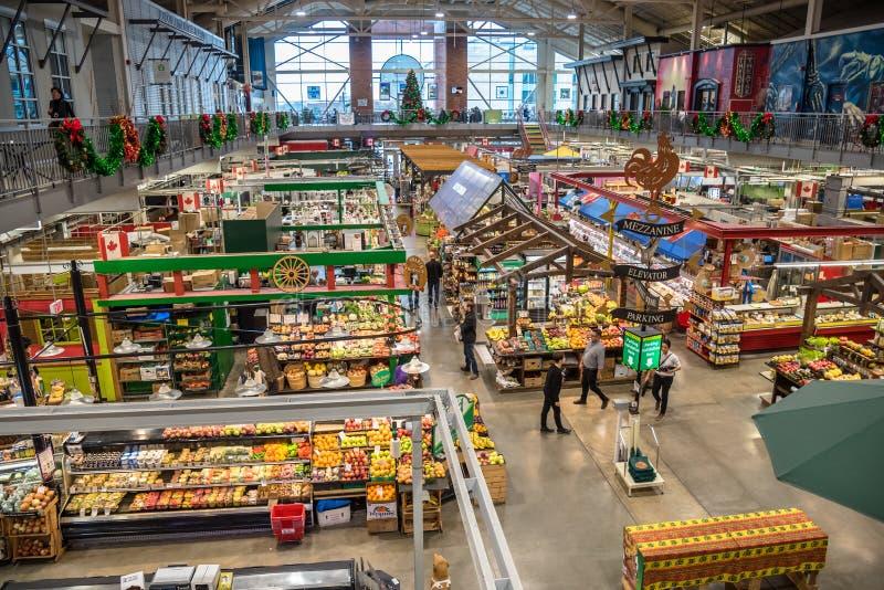Interior do mercado do jardim de Covent em Londres, SOBRE, Canadá imagens de stock royalty free