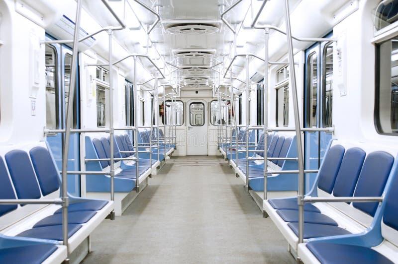 Interior do metro fotografia de stock royalty free