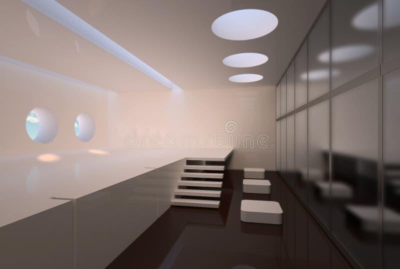 Interior do Minimalism ilustração do vetor