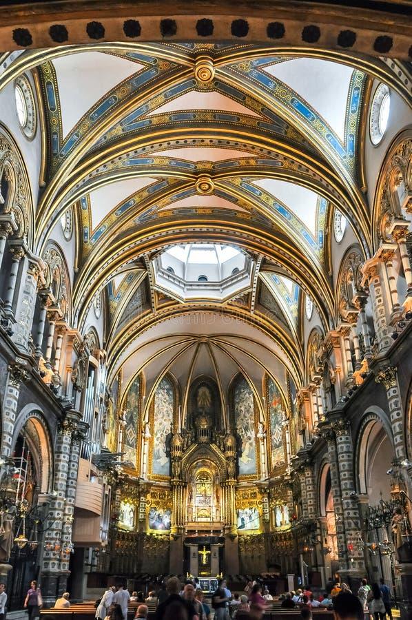 Interior do monastério de Monserrate, Barcelona, Espanha imagem de stock royalty free
