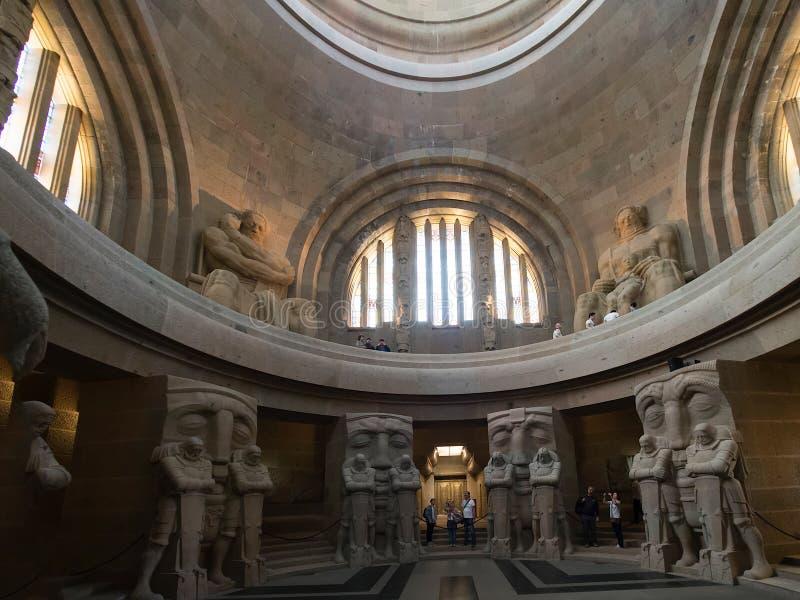 Interior do monumento à batalha das nações, Leipzig fotos de stock royalty free