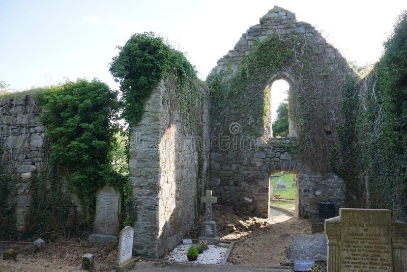 Interior do mosteiro de Killydonnell fotos de stock royalty free