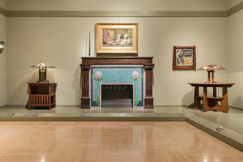 Interior do museu de arte de Los Angeles County imagens de stock