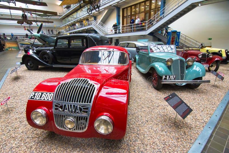 Interior do museu técnico nacional em Praga Por sobre cem anos co extensivo fotos de stock royalty free