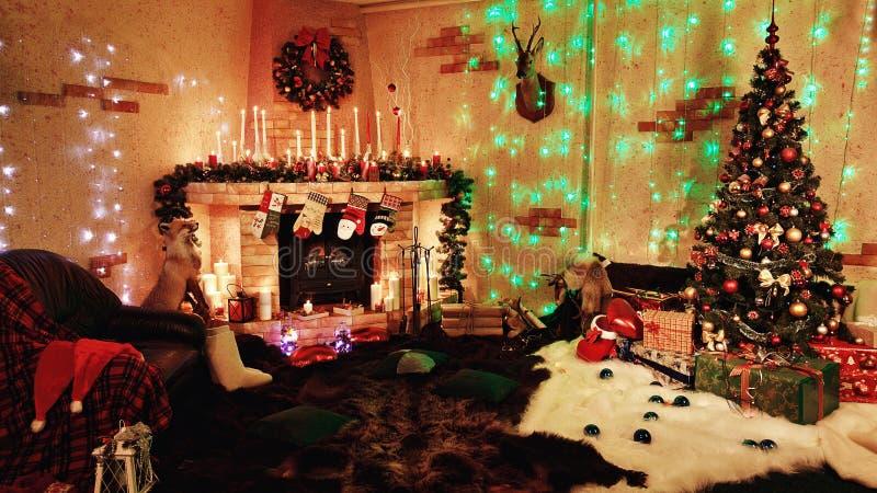 Interior do Natal fotos de stock