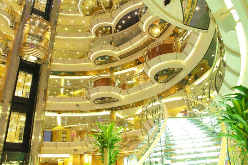 Interior do navio de cruzeiros fotos de stock