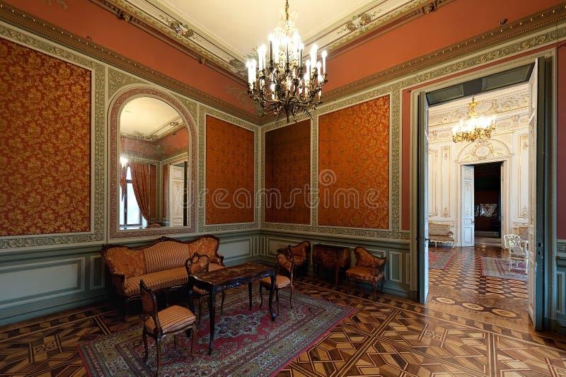 Interior do palácio das contagens Tolstoy, conhecido geralmente como a casa dos cientistas em Odesa, Ukr foto de stock royalty free