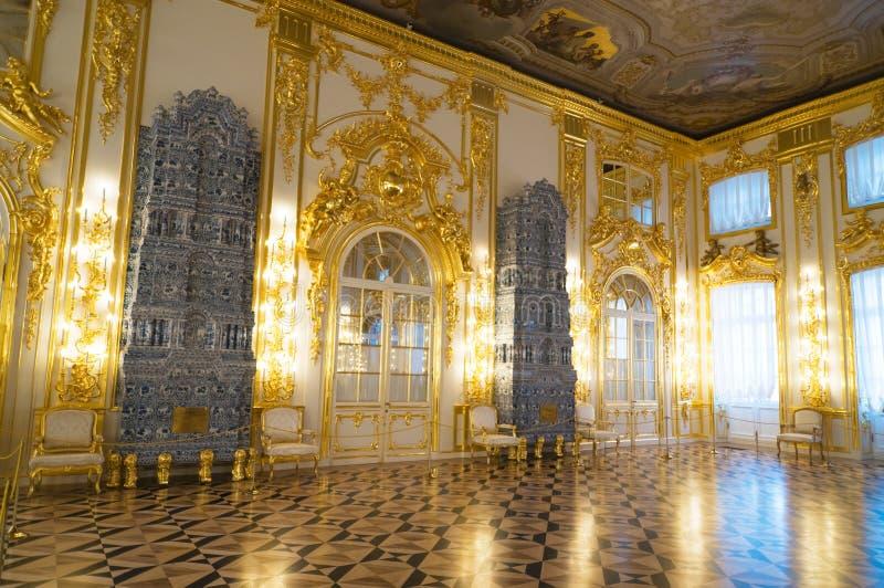 Interior do palácio de Catherine fotografia de stock royalty free